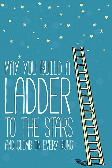 May you build a ladder to the stars and climb on every rung by nektarinchen