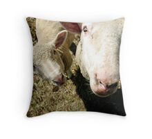 Junior and Lefty Throw Pillow