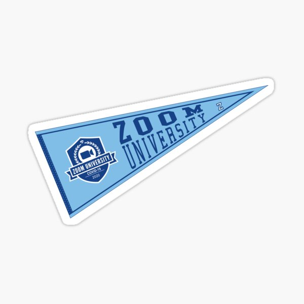Zoom University Pennant Flag Sticker