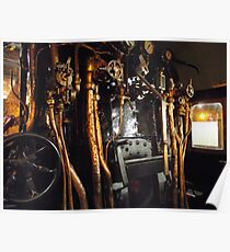 Engine compartment steam train Poster