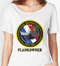 SSN-780 USS Missouri Plank Owner Crest Women's Relaxed Fit T-Shirt