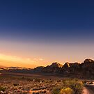 Sunset at Red Rock Canyon, Nevada by Mark Greenmantle