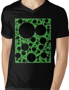 Random Tiling Green Mens V-Neck T-Shirt