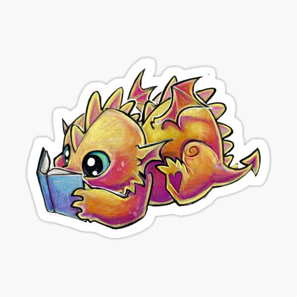 Book dragon Sticker
