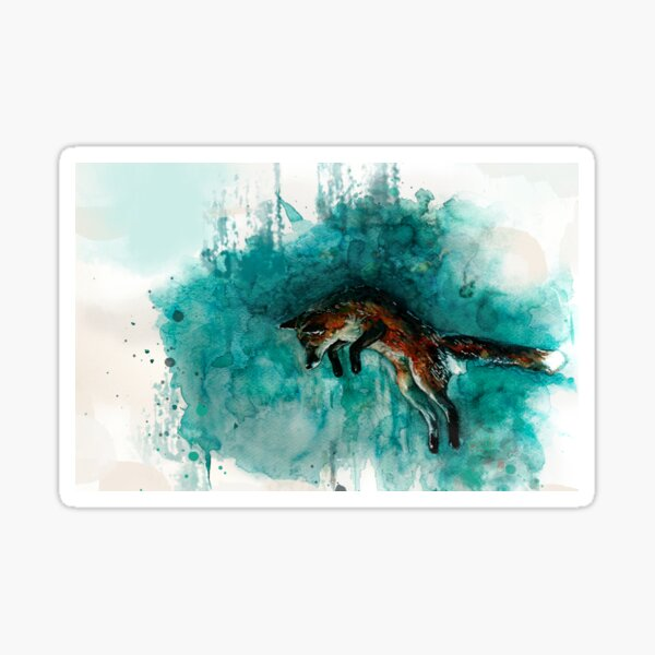 The FOX ~+~ Der FUCHS Jump for joy Sticker