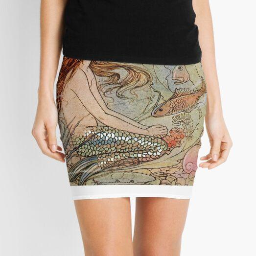 Vintage Mermaid Mini Skirt