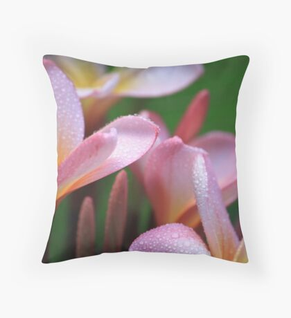 Fresh Frangipani  Throw Pillow