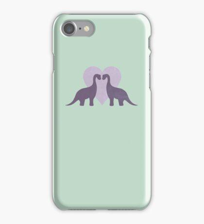 Prehistoric Love sans text iPhone Case/Skin