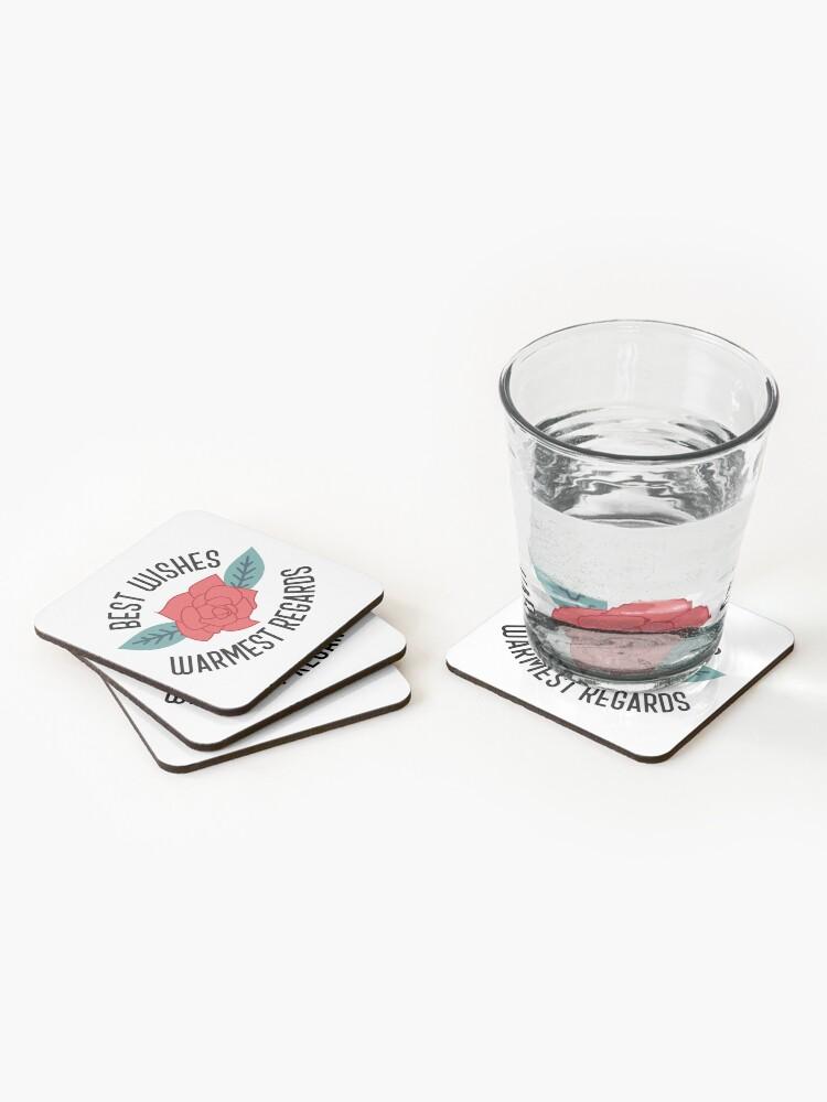 Alternate view of Best Wishes, Warmest Regards - Schitt's Creek Coasters (Set of 4)