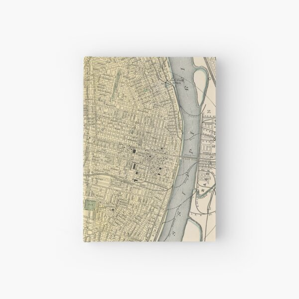 Vintage Map of St. Louis (1891) Hardcover Journal