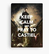 Keep Calm and Pray to Castiel Canvas Print