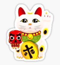Maneki neko f u Sticker