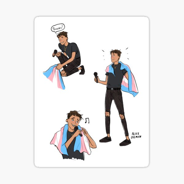 Trans Rights Jimmy Sticker