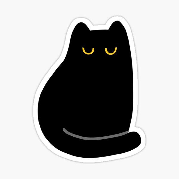 Shea the Unimpressed Black Cat Pattern Sticker