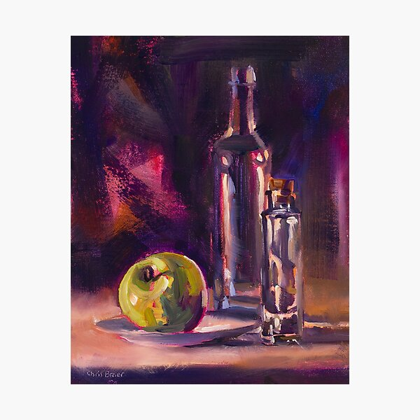 Bottles With Apple Photographic Print