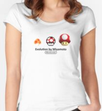 Mario Evolution Women's Fitted Scoop T-Shirt