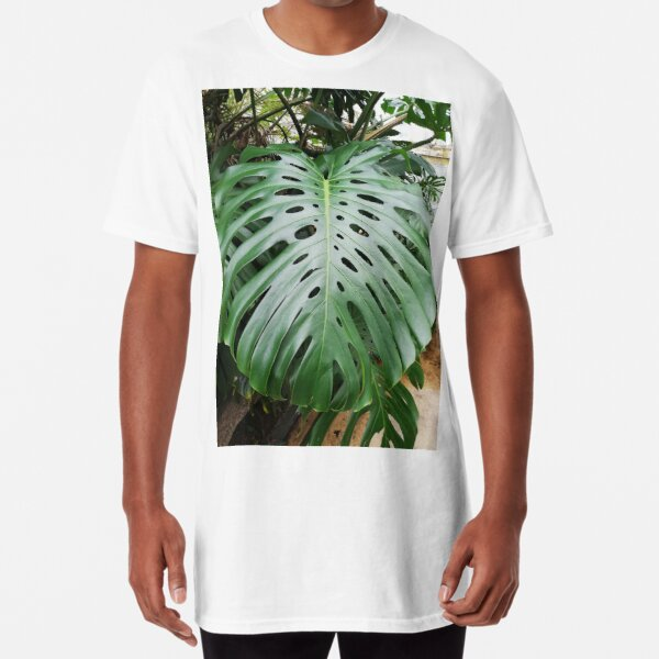 Large green leaf Long T-Shirt