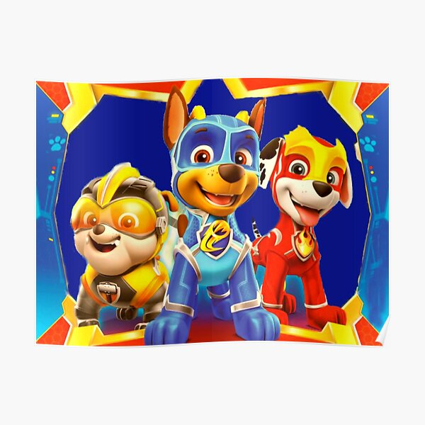 Paw Patrol Mighty Pups Póster