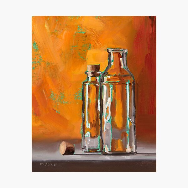 Bottles With Turquoise Photographic Print