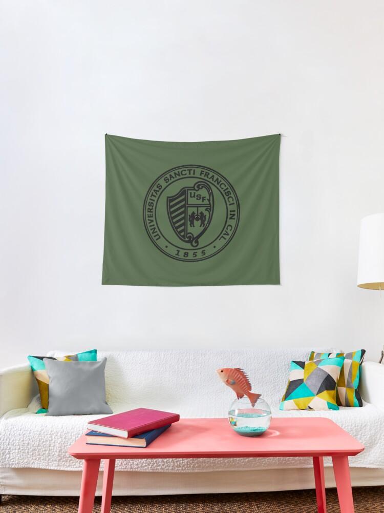 University Of San Francisco Crest Tapestry By Sammybear Redbubble