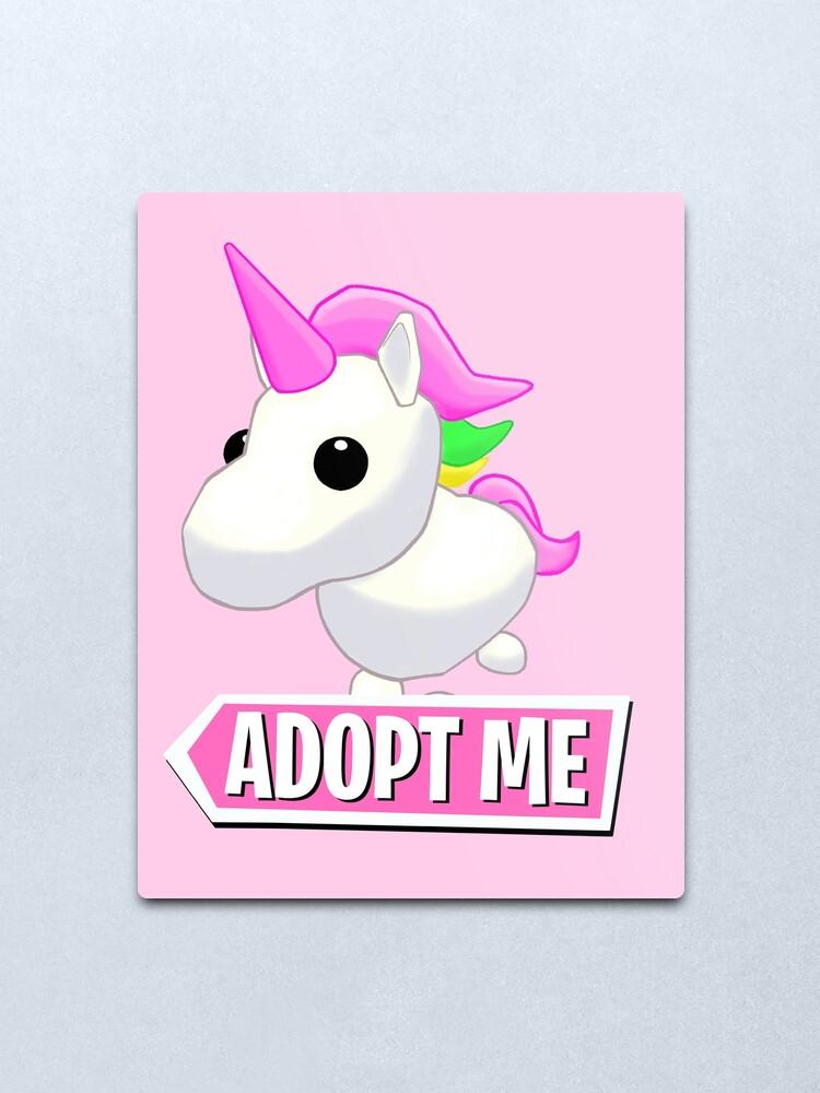 Adopt Me Unicorn Metal Print By Pickledjo Redbubble