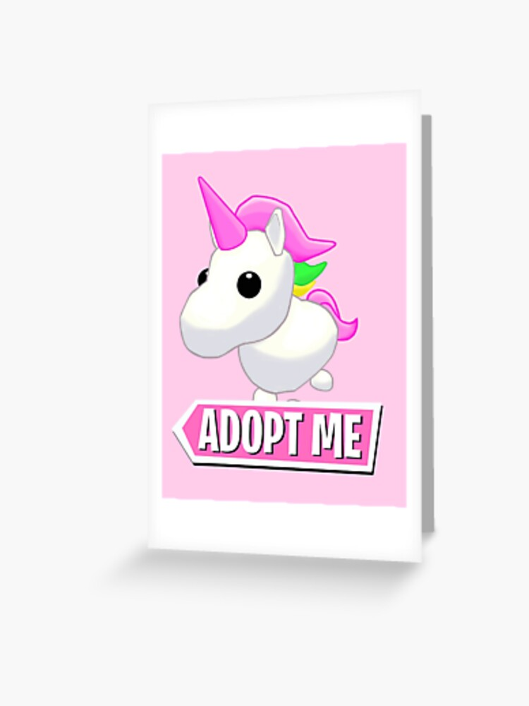 Adopt Me Unicorn Greeting Card By Pickledjo Redbubble