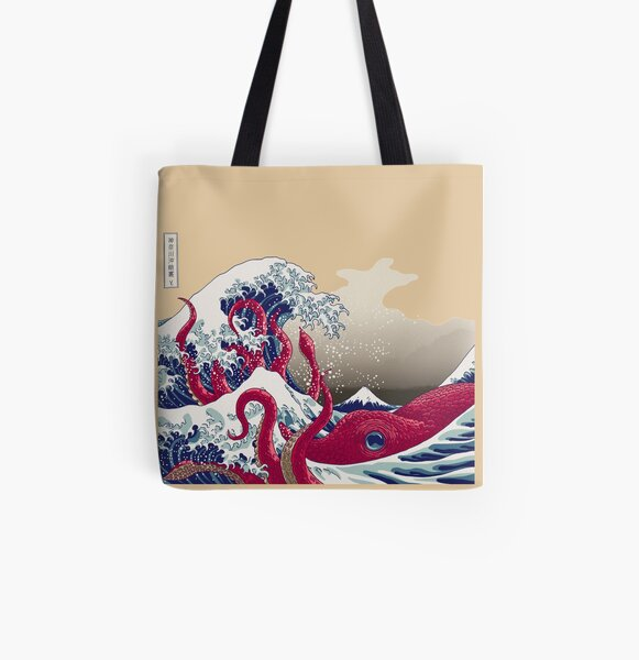 Hoktopusai All Over Print Tote Bag