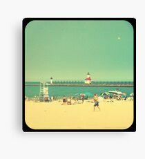 Silver Beach Canvas Print