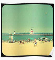 Silver Beach Poster