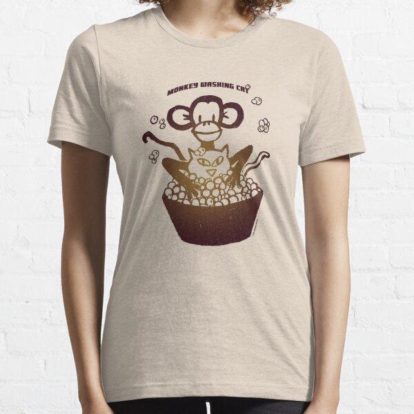 "Davenport Johnson ""Monkey Washing Cat"" T-shirt Essential T-Shirt"