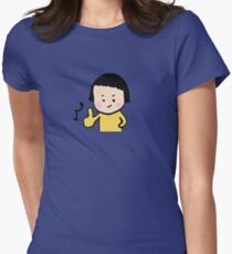 Smiley little girl (1) Women's Fitted T-Shirt