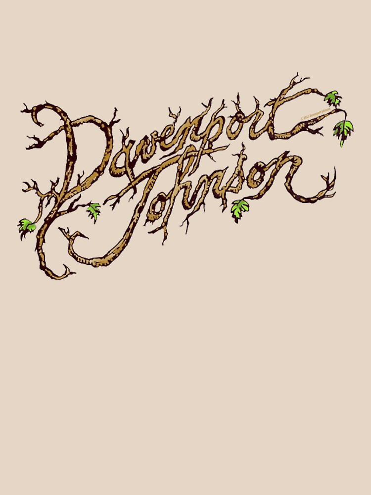 Davenport Johnson Vine LOGO T-Shirt by Dave-id