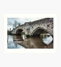 Aylesford Bridge at High Tide Art Print