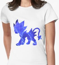 Luxray used discharge Women's Fitted T-Shirt