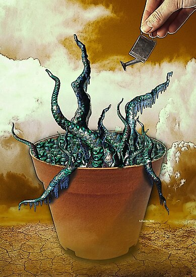 Watering the Flowers of Horror by Abie Davis