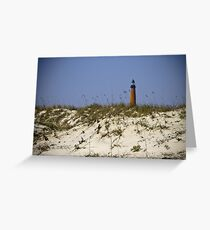 Beachview of Ponce Inlet Lighthouse Greeting Card
