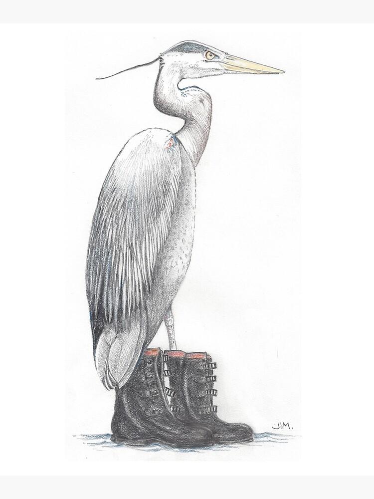 Great blue heron in galoshes by JimsBirds
