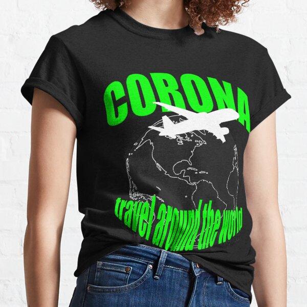 Corona Reise um die Welt Neonfarben Classic T-Shirt