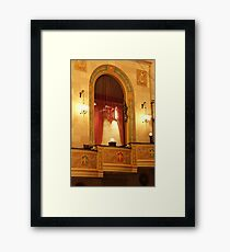 Balcony in Detroit Orchestra Hall in Michigan Framed Print