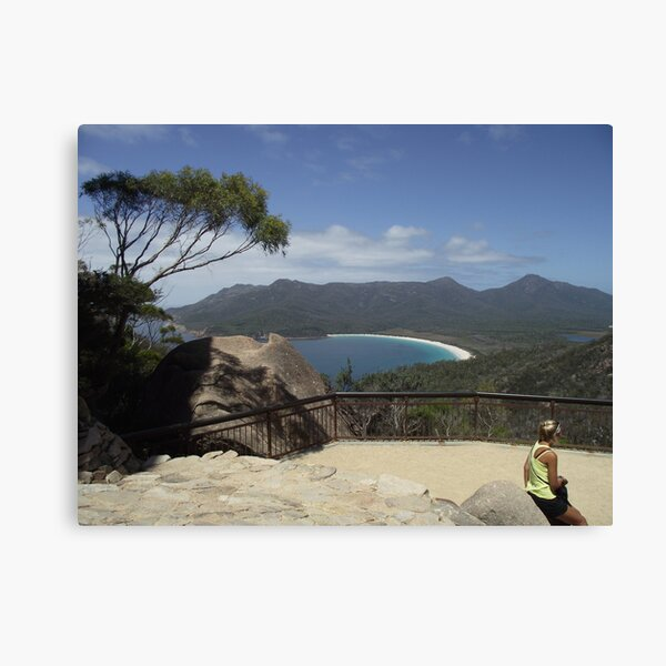 finally - the Wineglass Bay lookout Canvas Print