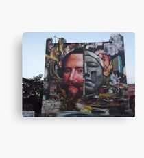 Colorful Mural, Columbus Drive, Jersey City, New Jersey Canvas Print