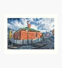 Red Brick House in Hobart Art Print