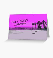 Retro San Diego California Greeting Card