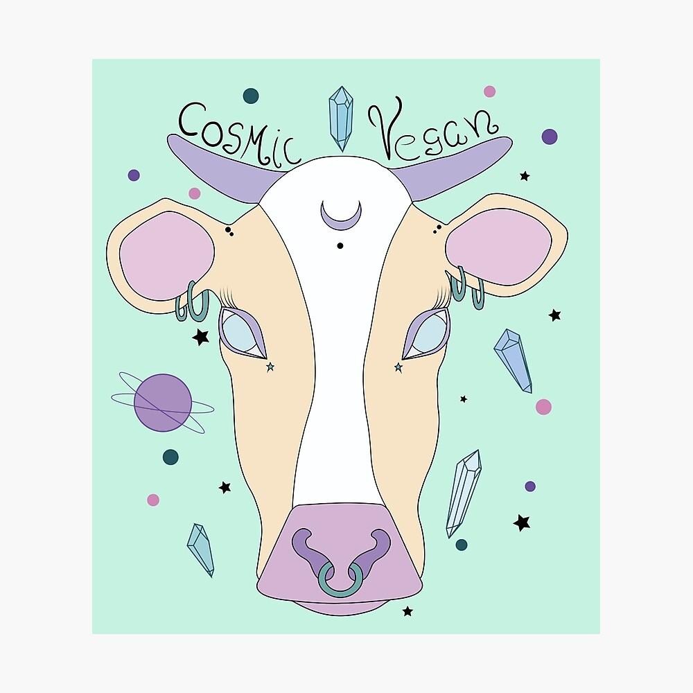 Kosmische vegane Kuh. Fotodruck