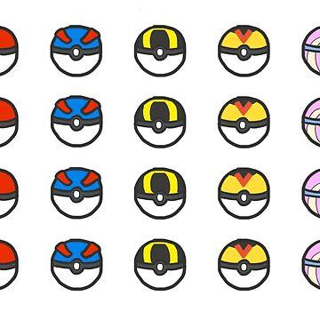 Pokeball Variety by starchildchamp