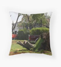 2011 08 21 Goderich, Ont. Tornado One Week Later Aftermath 6688 Throw Pillow