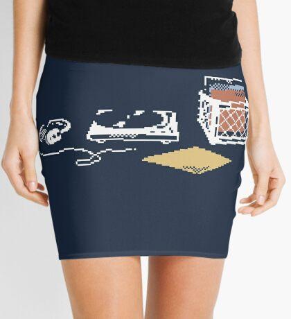 Vinyl Lover Pixel Art Mini Skirt