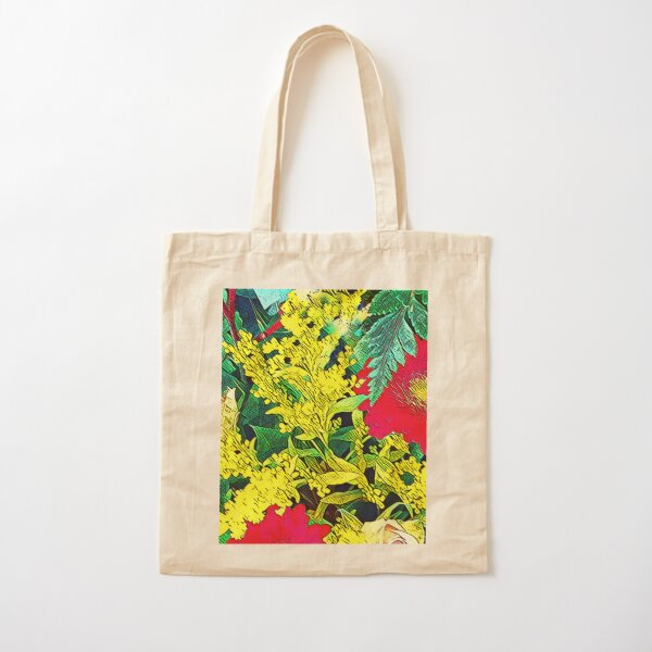 Red and Yellow Medley Cotton Tote Bag