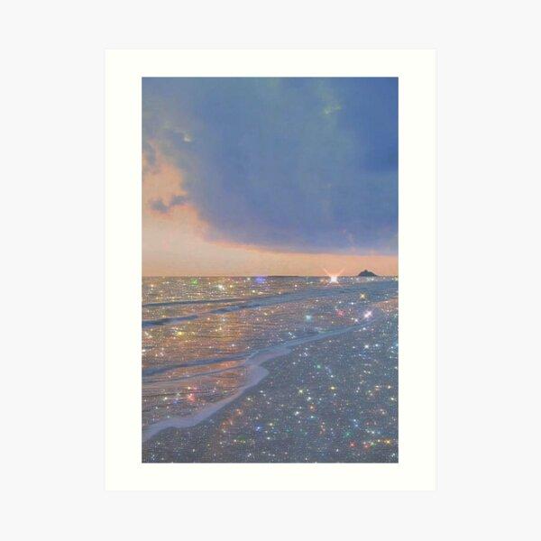 sparkly ocean vintage aesthetic Art Print