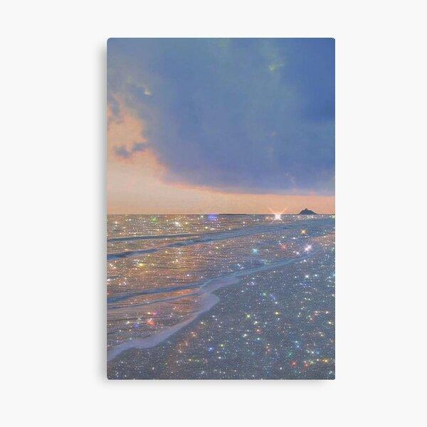 sparkly ocean vintage aesthetic Canvas Print